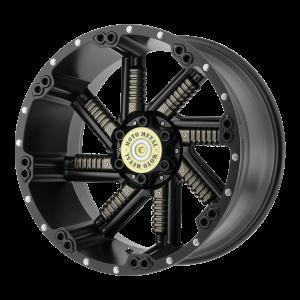 20x10 5x127/5x139.7 Moto Metal Offroad Wheels MO979 Buckshot Satin Black With Gun Metal Inserts -24  offset  78.3  hub