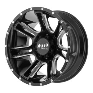 20x12 6x139.7 Moto Metal Offroad Wheels MO982 Amp Gloss Black Milled -44  offset  106.25  hub