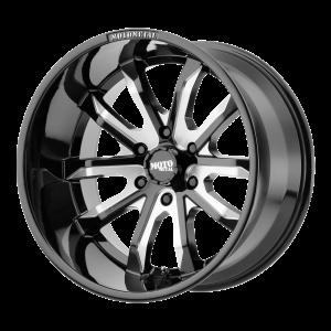 18x9 5x120 Moto Metal Offroad Wheels MO983 Dagger Gloss Black Milled 18  offset  72.6  hub