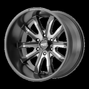 18x9 6x114.3 Moto Metal Offroad Wheels MO983 Dagger Satin Gray Milled 18  offset  72.6  hub