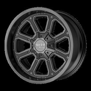17x9 6x114.3 Moto Metal Offroad Wheels MO984 Shift Matte Gray Gloss Black Inserts 18  offset  72.6  hub