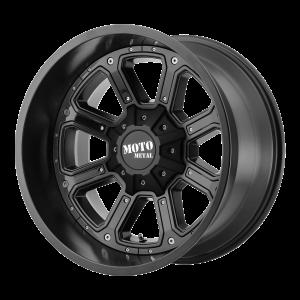 17x9 5x127/5x135 Moto Metal Offroad Wheels MO984 Shift Matte Black Gloss Black Inserts -12  offset  87.1  hub