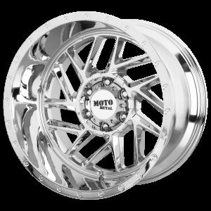16x8 5x114.3 Moto Metal Offroad Wheels MO985 Breakout Chrome -6  offset  72.6  hub