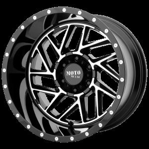 16x8 5x114.3 Moto Metal Offroad Wheels MO985 Breakout Gloss Black Machined -6  offset  72.6  hub
