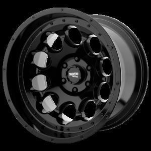20x12 5x127 Moto Metal Offroad Wheels MO990 Rotary Gloss Black -44  offset  71.5  hub