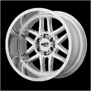 20x10 5x127 Moto Metal Offroad Wheels MO992 Folsom Chrome -18  offset  71.5  hub