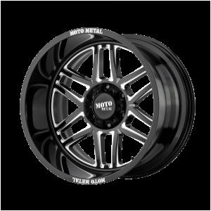 20x10 5x127 Moto Metal Offroad Wheels MO992 Folsom Gloss Black Milled -18  offset  71.5  hub