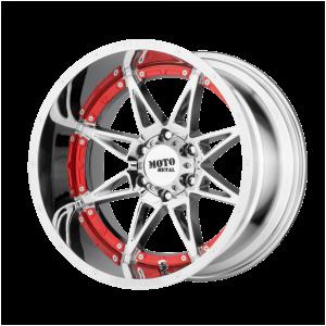 17x9 5x127 Moto Metal Offroad Wheels MO993 Hydra Chrome -12  offset  78.3  hub