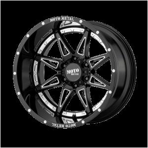 17x9 5x127 Moto Metal Offroad Wheels MO993 Hydra Gloss Black Milled -12  offset  78.3  hub