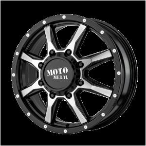 17x6.5 8x165.1 Moto Metal Offroad Wheels MO995 Gloss Black Machined - Front 111  offset  125.5  hub
