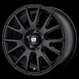 17x8 5x100 Motegi Wheels MR118 MS7 Matte Black 45 offset 72.6 hub