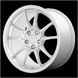 17x8 4x108 Motegi Wheels MR152 SS5 Hyper Silver 45 offset 63.4 hub