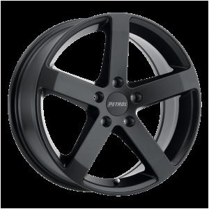 16x7 5x100 Petrol Wheels P3B Matte Black 38 offset 71.5 hub