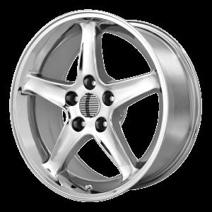 17x9 4x108 OE Creations Replica Wheels PR102 Chrome 18 offset 64 hub