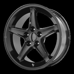 17x9 4x108 OE Creations Replica Wheels PR102 Gloss Black 18 offset 64 hub