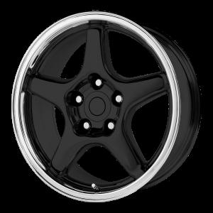 17x9.5 5x120.65 OE Creations Replica Wheels PR103 Gloss Black/Machined Lip 38 offset 70.7 hub