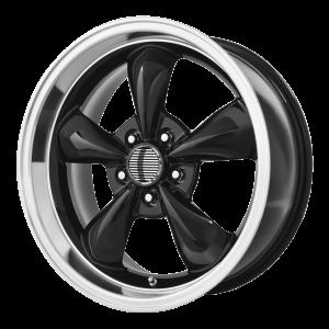 17x10.5 5x114.3 OE Creations Replica Wheels PR106 Gloss Black/Machined Lip 27 offset 70.6 hub