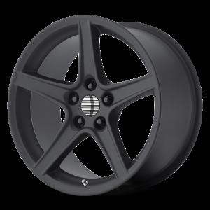 18x10 5x114.3 OE Creations Replica Wheels PR110 Matte Black 24 offset 70.6 hub
