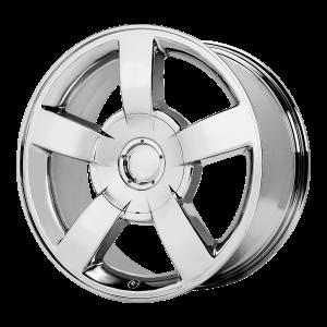 22x10 6x139.7 OE Creations Replica Wheels PR112 Chrome 30 offset 78.3 hub