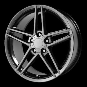 17x8.5 5x120.65 OE Creations Replica Wheels PR117 Hyper Black 49 offset 70.7 hub