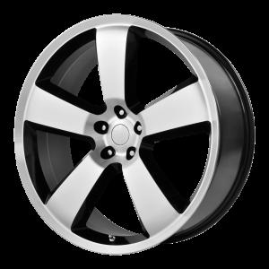 20x9 5x115 OE Creations Replica Wheels PR119 Gloss Black/Machined Lip 20 offset 71.5 hub
