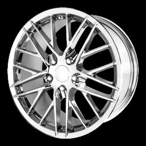 17x8.5 5x120.65 OE Creations Replica Wheels PR121 Chrome 49 offset 70.7 hub