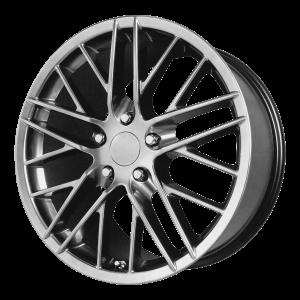 17x8.5 5x120.65 OE Creations Replica Wheels PR121 Hyper Silver Dark 49 offset 70.7 hub