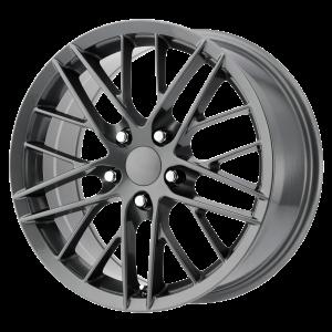 18x8.5 5x120.65 OE Creations Replica Wheels PR121 Gunmetal 56 offset 70.7 hub