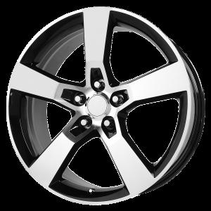 20x8 5x120 OE Creations Replica Wheels PR125 Gloss Black Machined 35 offset 67.06 hub