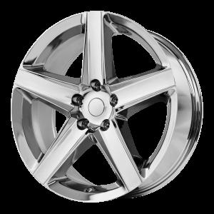 20x10 5x127 OE Creations Replica Wheels PR129 Chrome 50 offset 71.5 hub