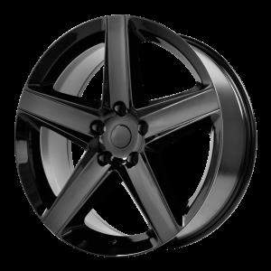 17x7.5 5x110 OE Creations Replica Wheels PR129 Gloss Black 32 offset 65.1 hub