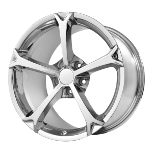17x8.5 5x120.65 OE Creations Replica Wheels PR130 Chrome 49 offset 70.3 hub