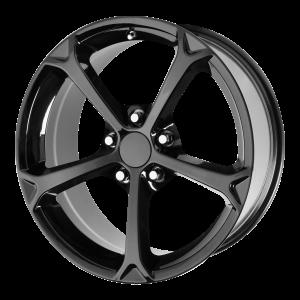 17x8.5 5x120.65 OE Creations Replica Wheels PR130 Gloss Black 49 offset 70.3 hub