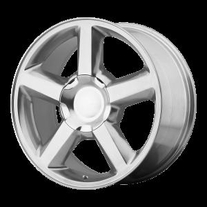 20x8.5 6x139.7 OE Creations Replica Wheels PR131 Polished 31 offset 78.3 hub
