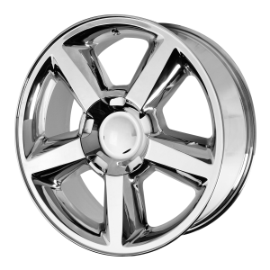 20x8.5 6x139.7 OE Creations Replica Wheels PR131 Chrome 31 offset 78.3 hub