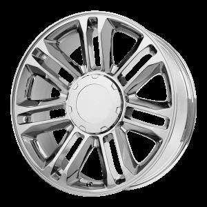 22x9 6x139.7 OE Creations Replica Wheels PR132 Chrome 31 offset 78.3 hub