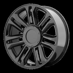 22x9 6x139.7 OE Creations Replica Wheels PR132 Gloss Black 31 offset 78.3 hub