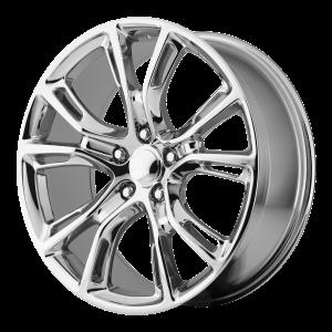 20x10 5x127 OE Creations Replica Wheels PR137 Chrome 50 offset 71.5 hub