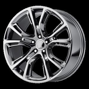 20x10 5x127 OE Creations Replica Wheels PR137 Pvd Black Chrome 50 offset 71.5 hub