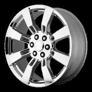 20x8.5 6x139.7 OE Creations Replica Wheels PR144 Chrome 31 offset 78.3 hub
