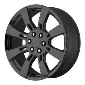20x8.5 6x139.7 OE Creations Replica Wheels PR144 Gloss Black 31 offset 78.3 hub