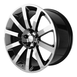 20x9 5x115 OE Creations Replica Wheels PR146 Black Chrome Pvd 26 offset 71.5 hub