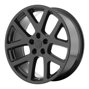 20x9 5x115 OE Creations Replica Wheels PR149 Gloss Black With Clearcoat 18 offset 71.5 hub