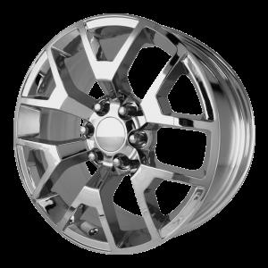 20x9 6x139.7 OE Creations Replica Wheels PR150 Chrome 27 offset 78.3 hub