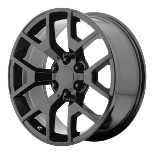 20x9 6x139.7 OE Creations Replica Wheels PR150 Gloss Black With Clearcoat 27 offset 78.3 hub