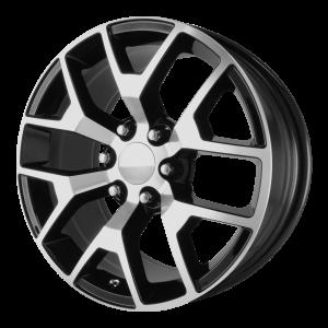 20x9 6x139.7 OE Creations Replica Wheels PR150 Gloss Black/Machined 27 offset 78.3 hub