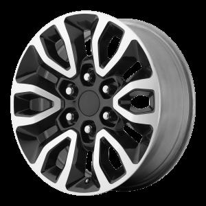 17x8.5 6x135 OE Creations Replica Wheels PR151 Gloss Black Machined 34 offset 87.1 hub
