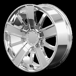 20x9 6x139.7 OE Creations Replica Wheels PR153 Chrome 27 offset 78.3 hub