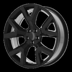 17x7.5 5x110 OE Creations Replica Wheels PR159 Gloss Black 31 offset 65.1 hub