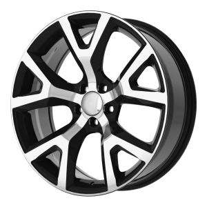 17x7.5 5x110 OE Creations Replica Wheels PR159 Gloss Black With Machined Face 31 offset 65.1 hub